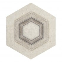 encore instep perle blanc hexagon