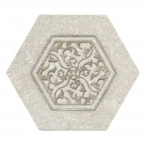 Encore Camber perle blanc hexagon central artwork