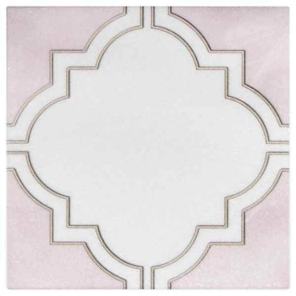 Barclay Pattern in Rose tile on Thassos Natural Stone