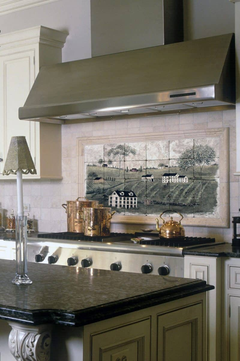 C'est La Vie Kitchen Mural Backsplash