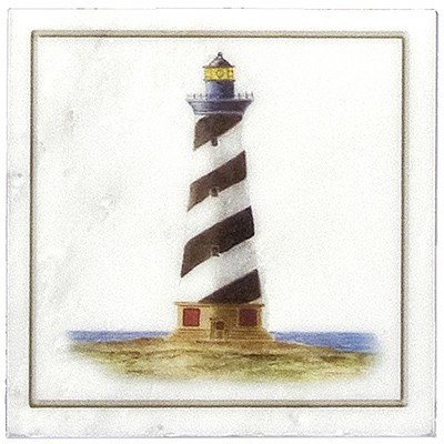 Cape Hatteras Lighthouse ACcent carrara marble