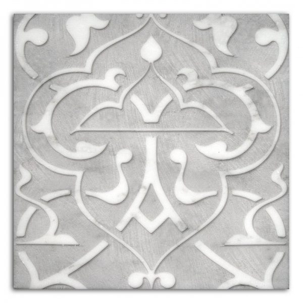 Charmed Night Pattern (Pewter) on Carrara