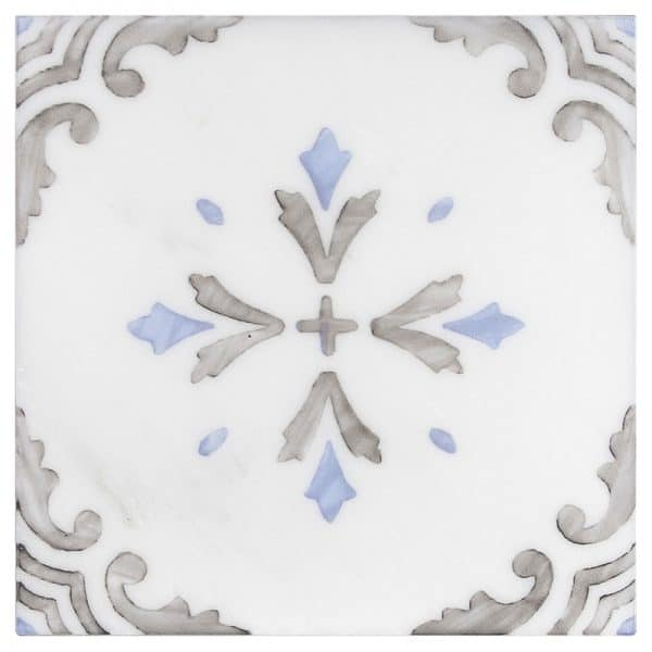 Crystal Blue Carrara Marble