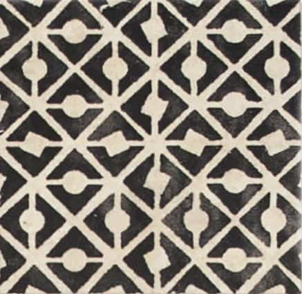 Damico Collection single tile in DD59 pattern featuring decorative design on natural stone