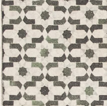 Damico Collection individual tile in DD60 pattern featuring brown and green tones on natural stone