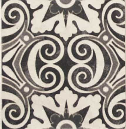 Damico Collection single tile in DD68 Pattern featuring intricate design on natural stone