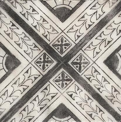 Damico Collection Single Tile in DD78 Pattern featuring black tones on natural stone
