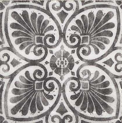 Damico Collection Single Tile in DD81 Pattern featuring black tones on natural stone