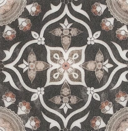 Damico Collection Single Tile in DD82 Pattern featuring intricate floral designs on natural stone