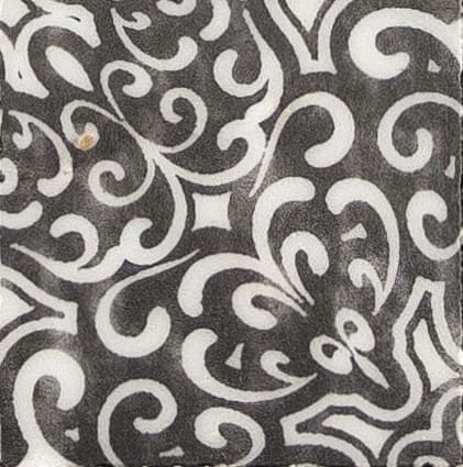 Damico Collection Single Tile in DD86 Pattern featuring black tones on natural stone