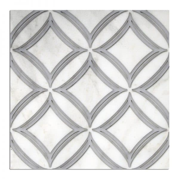 Ellipse - Chrome Grey 12x12 Carrara