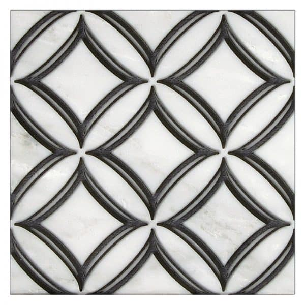 Ellipse - Noire Black 12x12 Carrara