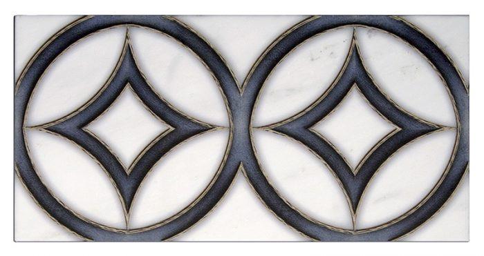 Hayden Dual Deep Blue Carrara Marble