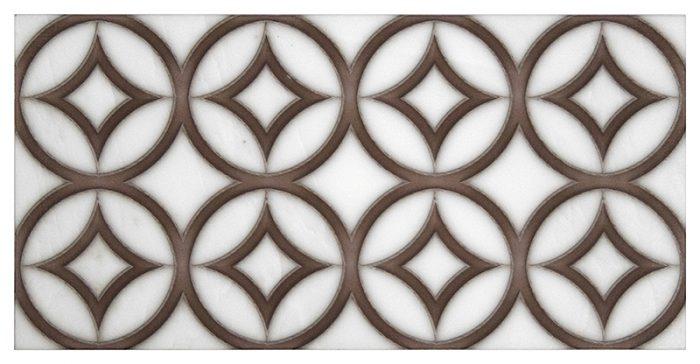 Hayden Trio hazel Carrara Marble