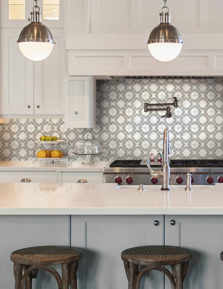 Karia Kitchen Neutral Carrara Marble