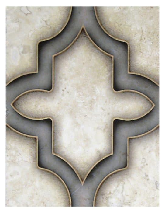 Milano Grand Slate on 6x8 honed Durango Travertine