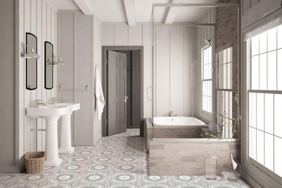 Nicolo Lilac Bathroom Install