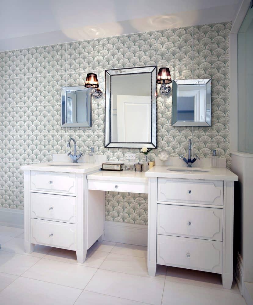 Quinn Sea Thassos Marble Bathroom