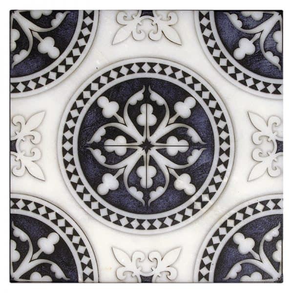 Regent Batik Blue Carrara Marble