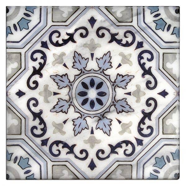 Sanza snowflake Blue Carrara Marble