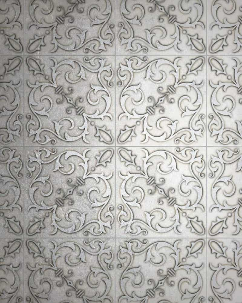 Jacquard Platinum Silver Luster limestone rendering