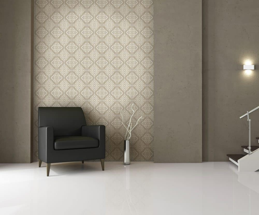Watermark Taupe Wall Installation