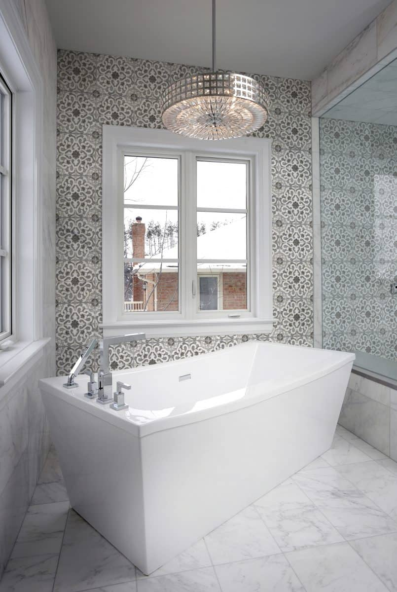 Zara tile pattern in modern master bathroom