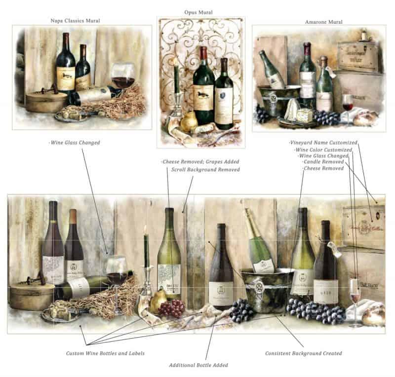 Wine Mural Customization options