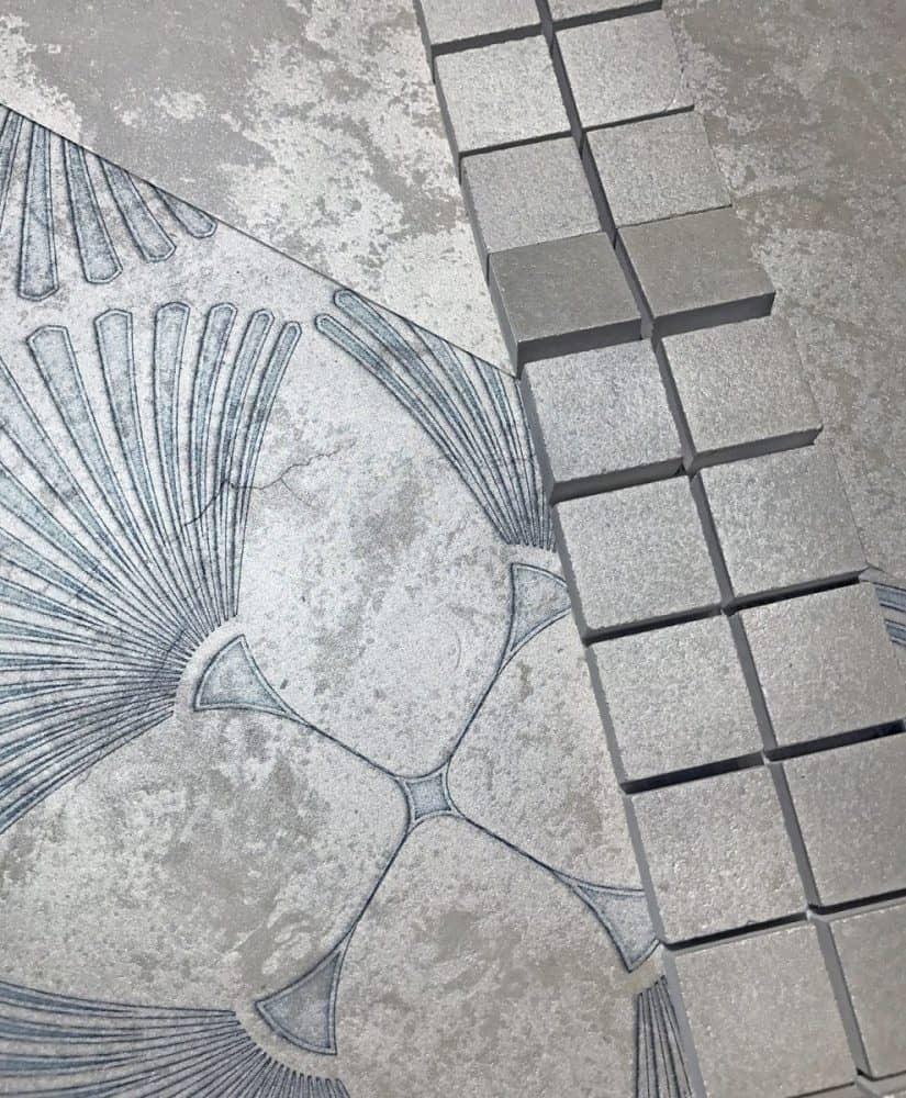 Briolette Silver Luster Limestone
