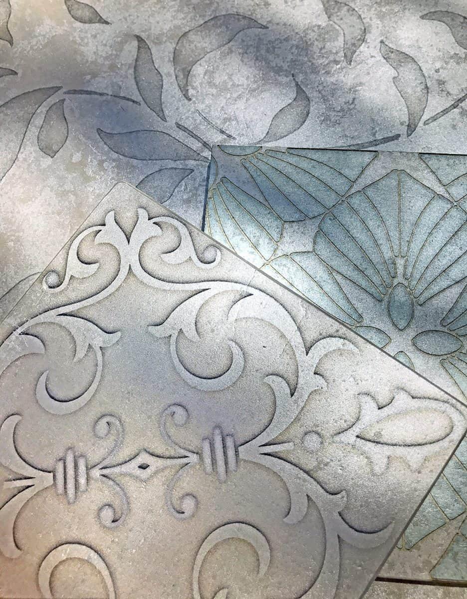 Elegant Silver Luster Limestone