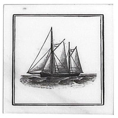 Maritime Schooner Accent Coaster
