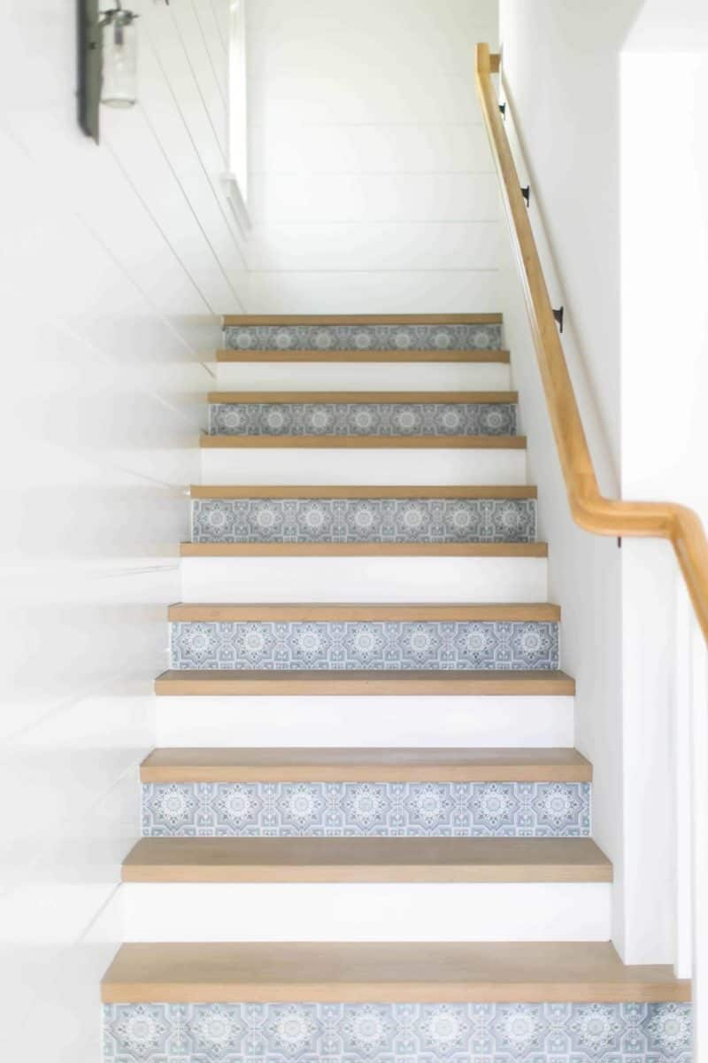Cabrillo Pattern Stair Risers for Lido Cottage close up