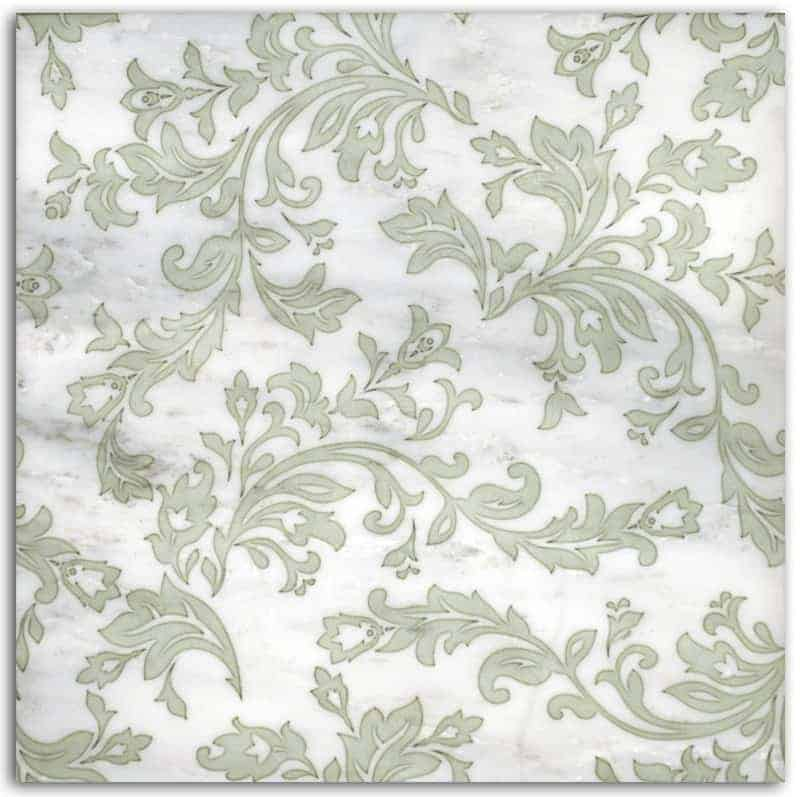 Charleston Pattern (Celadon) on Carrara