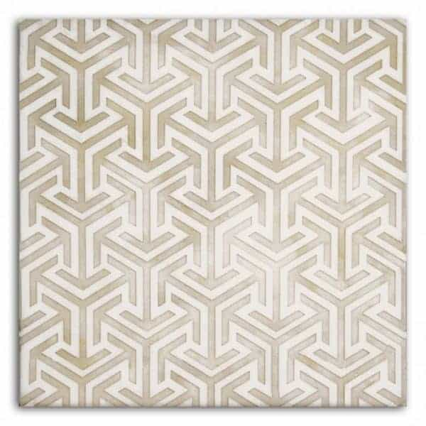 Interlude Pattern (Taupe) on Carrara