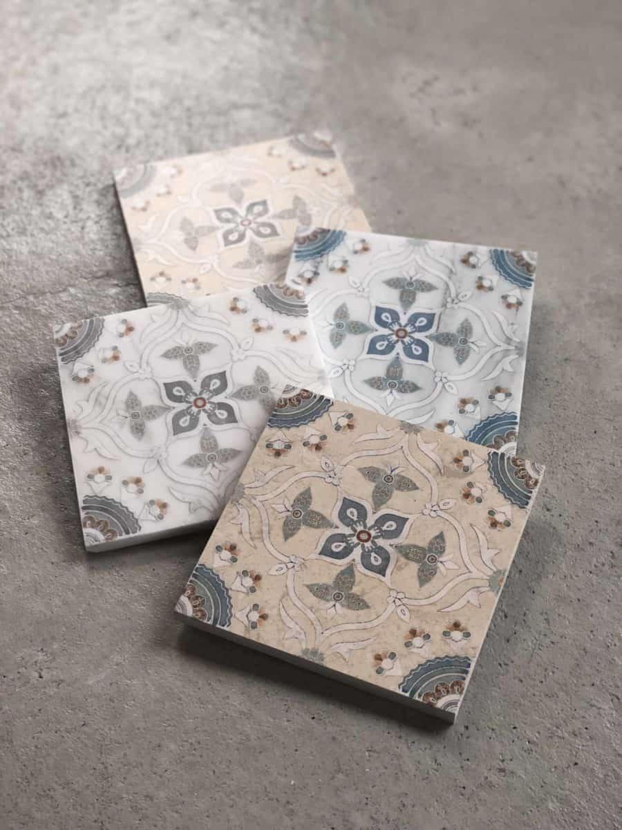 Sweden Pattern Tile on Floor different angle