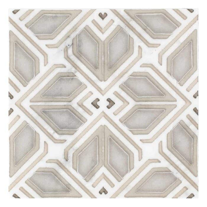 Avery Grand Pattern (Latte) on Carrara