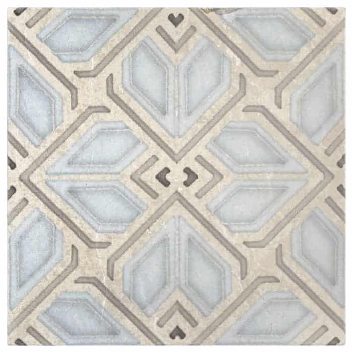 Avery Grande Pattern (Sky) on Limestone