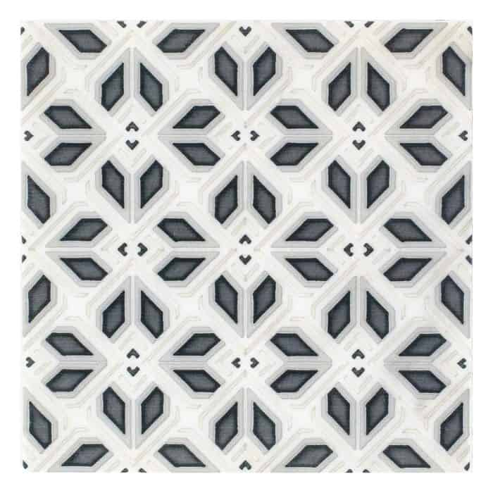Avery Petite Pattern (Charcoal) on Carrara