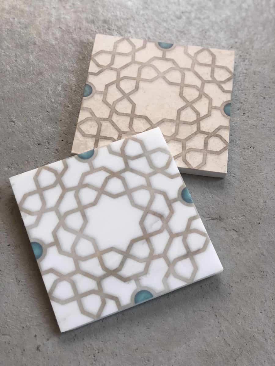 Medina Turquoise Spread Carrara Limstone