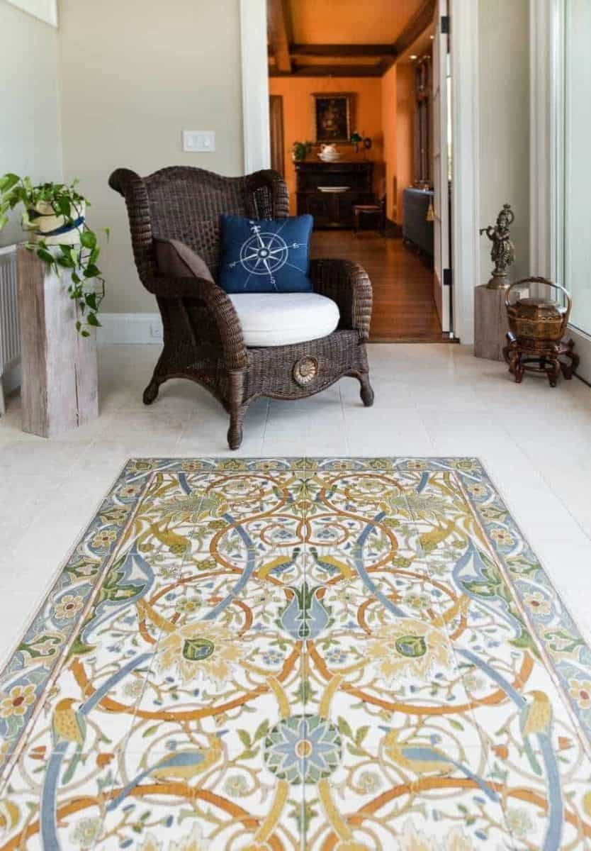 traditional custom mural floor rug