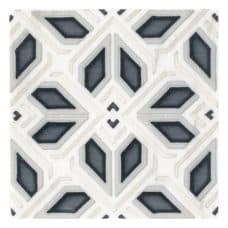 Avery Grand Pattern (Charcoal) on Carrara