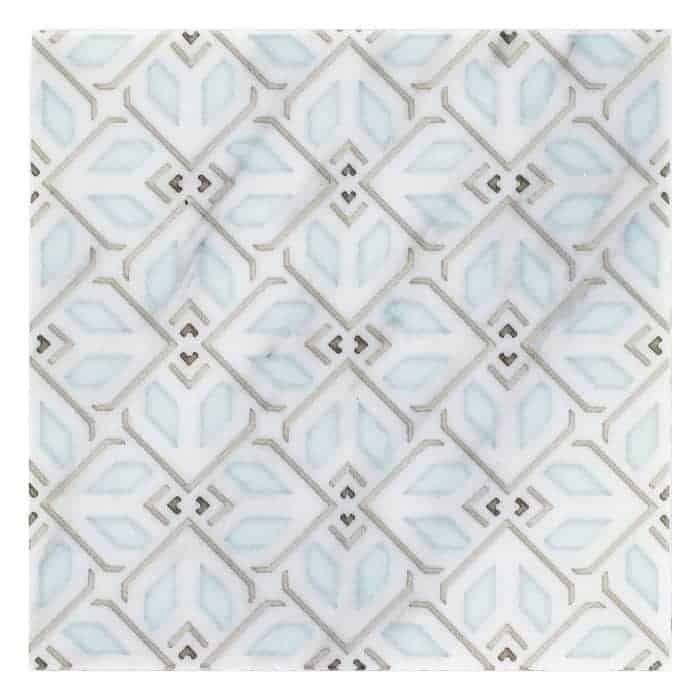 Avery Petite Pattern (Sky) on Carrara