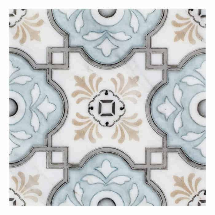 Davenport Pattern (Azure) on Carrara