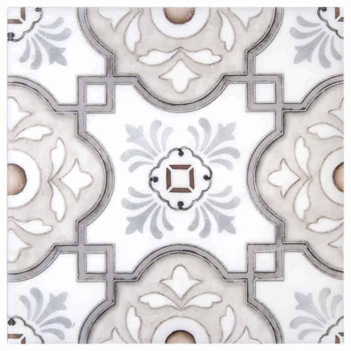 Davenport Pattern (Peach Clay) on Carrara