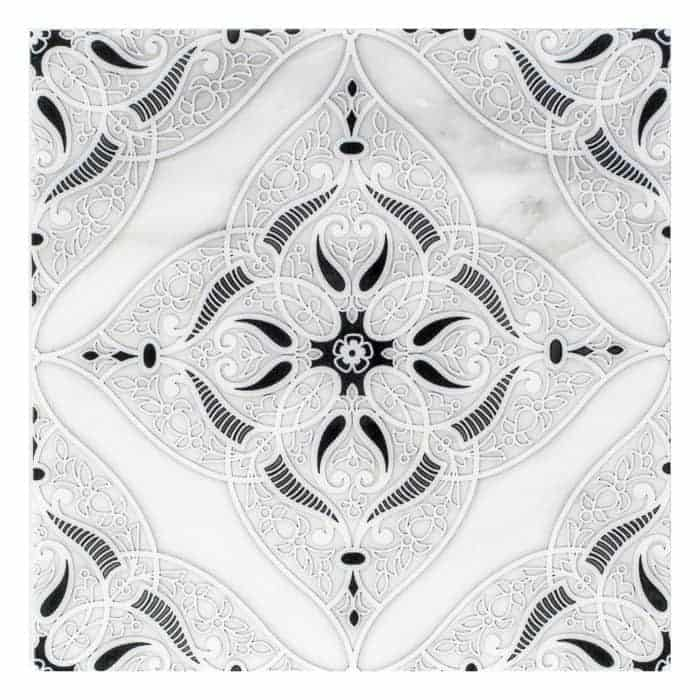 Granada Pattern (Coal) on Carrara