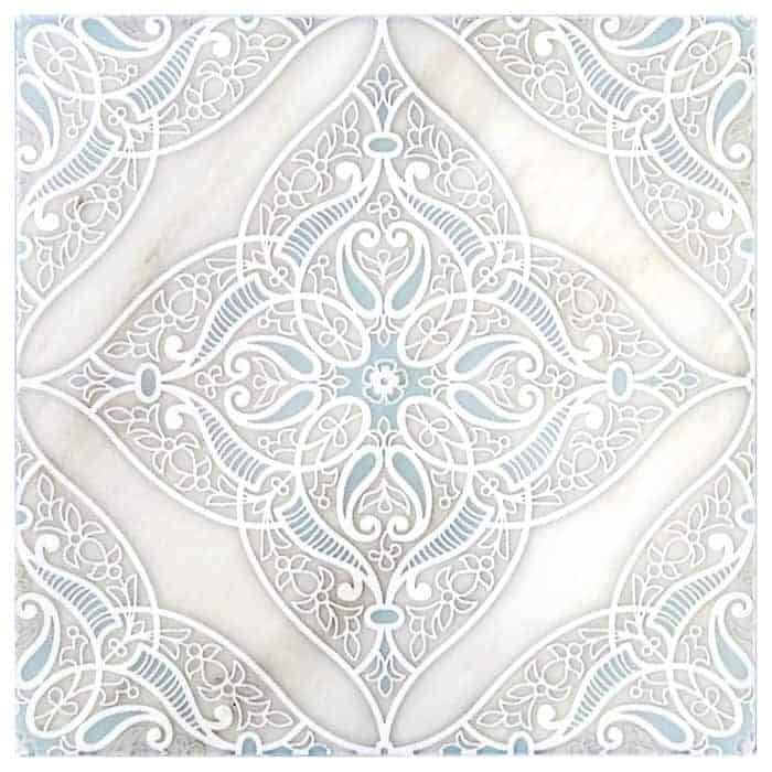 Granada Pattern (Sea) on Carrara