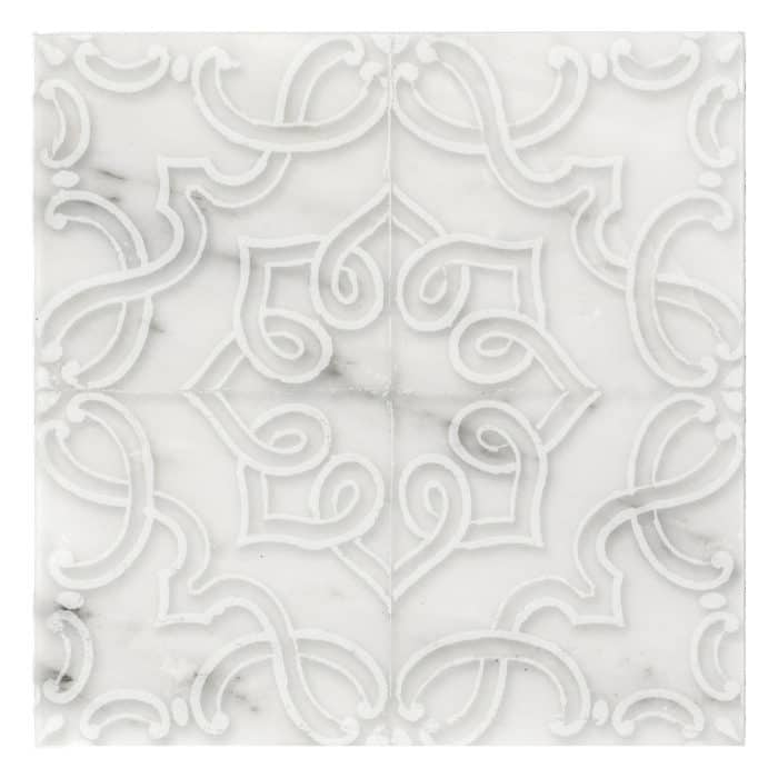Lennox Pattern (Lace) on Carrara