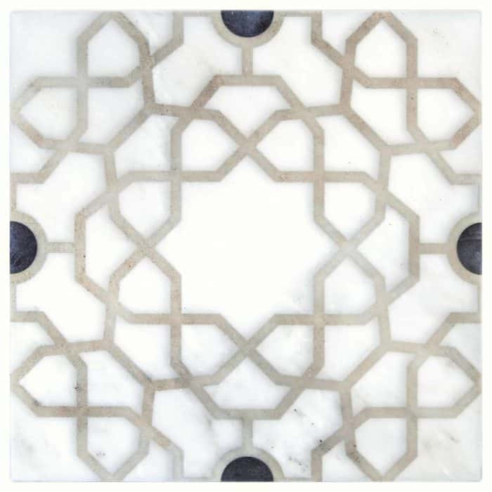 Medina Pattern (Onyx) on Carrara