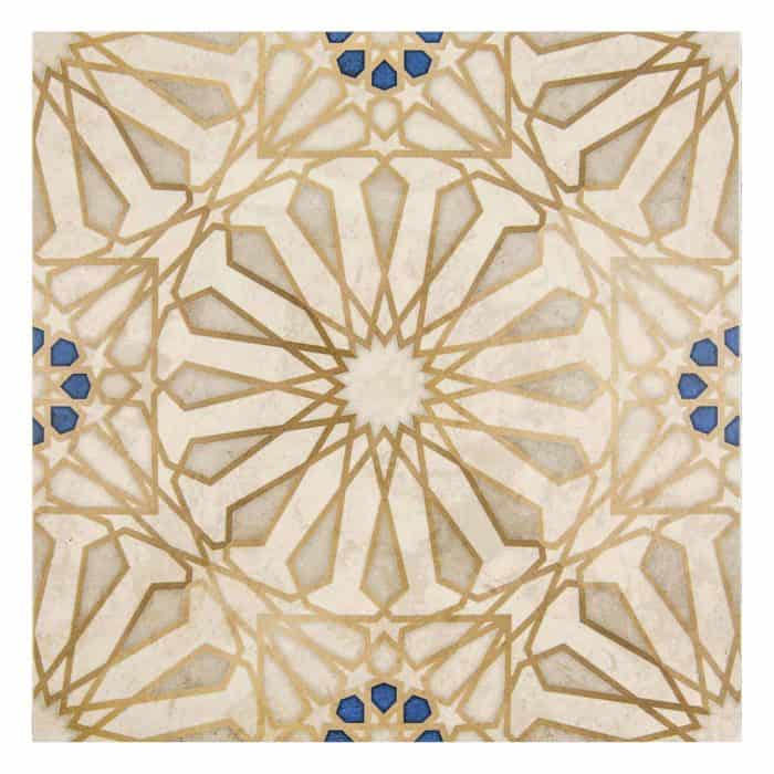 Mossalli Pattern (Gold) on Limestone