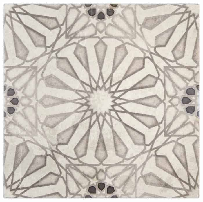 Mossalli Pattern (Silver) on Limestone